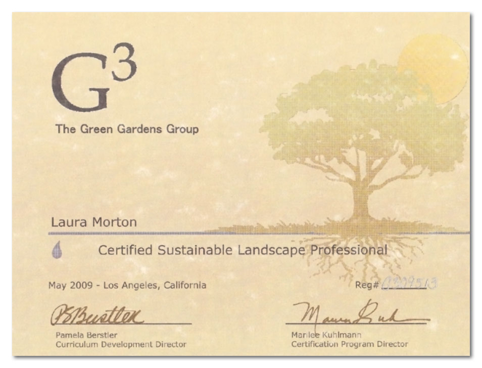 Certified Sustainable Landscape Professional