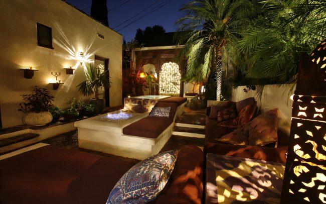 Courtyard - evening