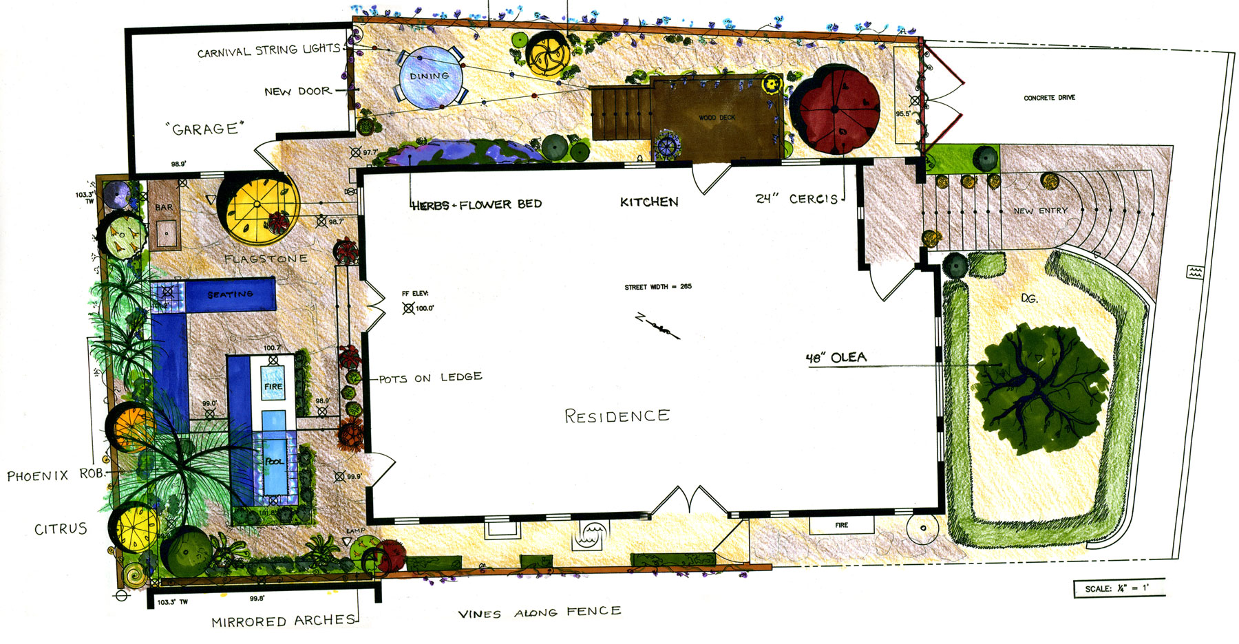 Project design sketch for Hollywood Oasis