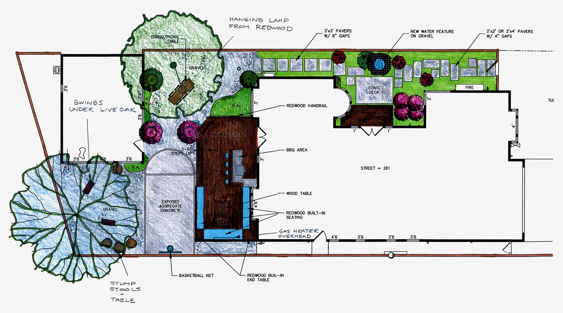 Project design sketch for Canyon Family Playground