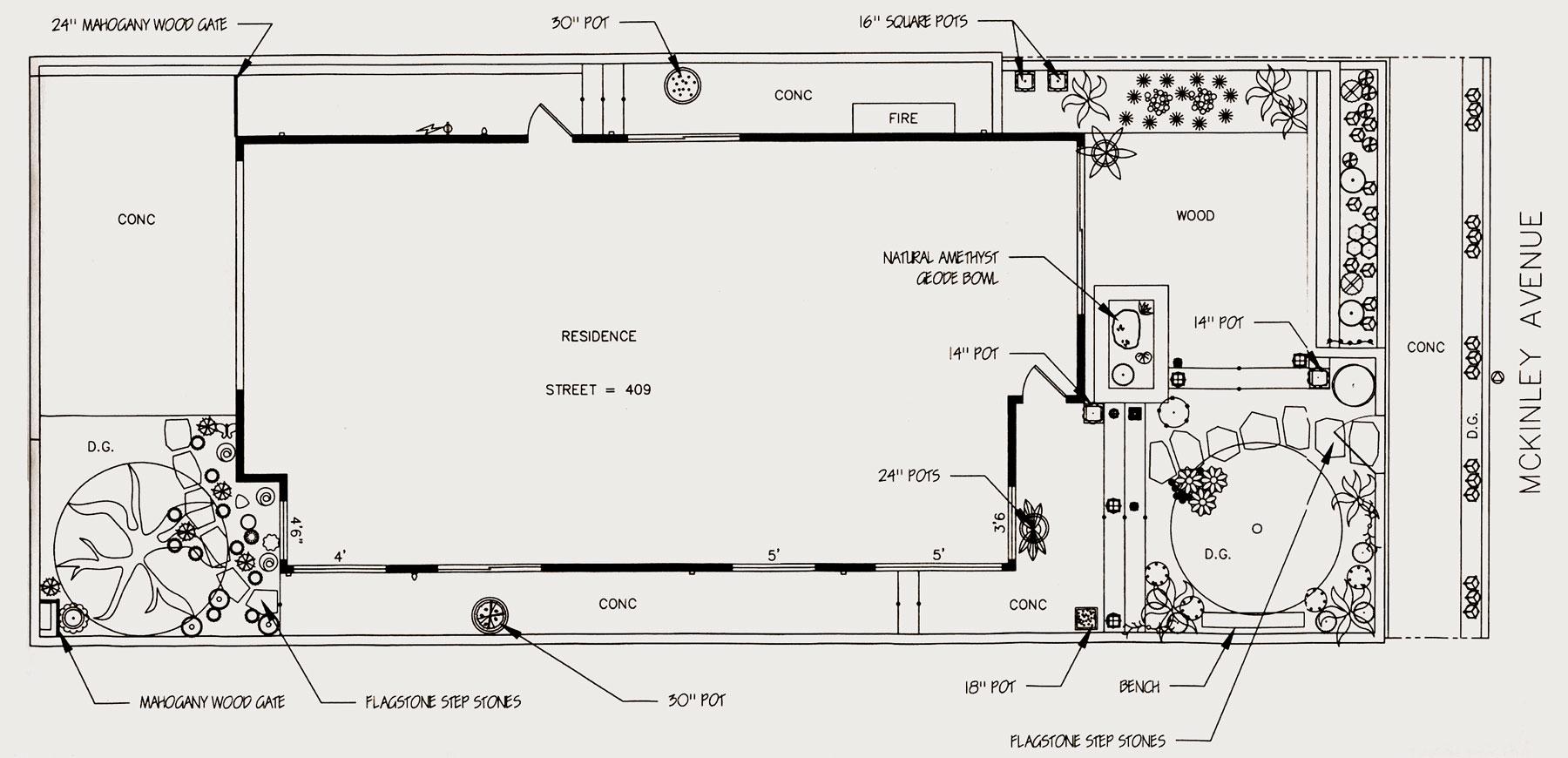 Exterior design sketch - street level