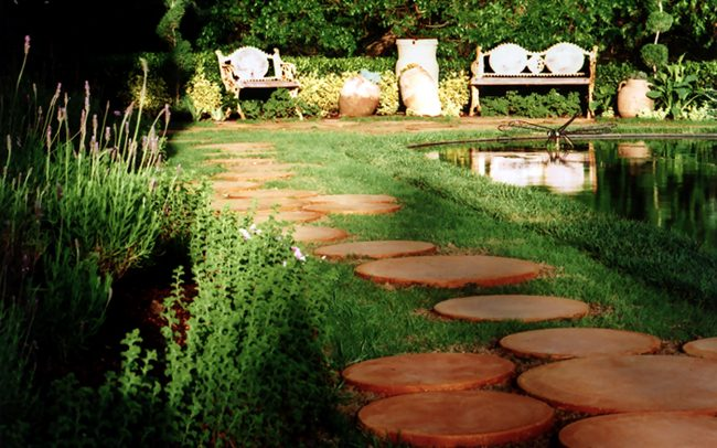 Walkway and chaise
