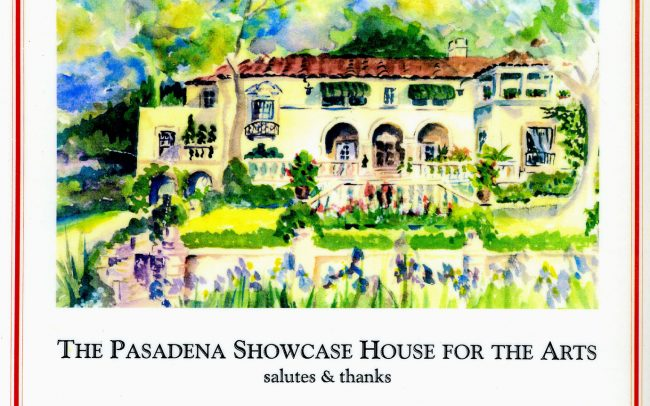 Acknowledgement card from Pasadena Showcase House for the Arts