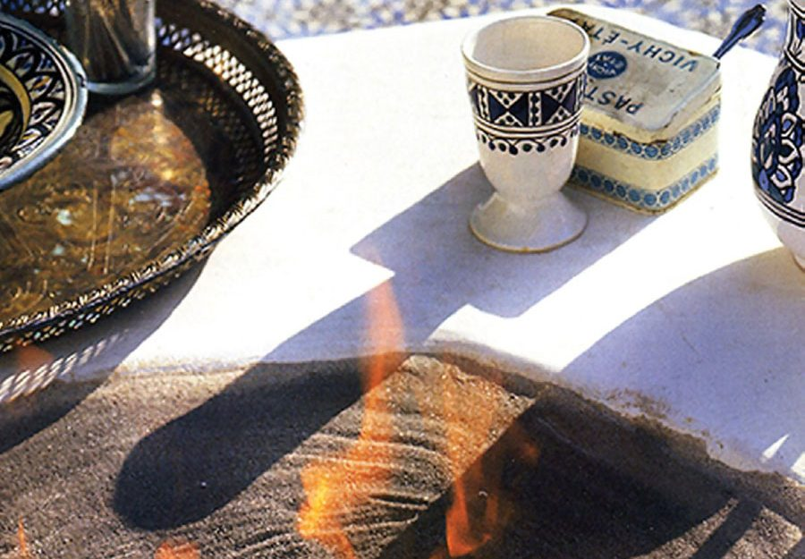 Moroccan-style fire pit