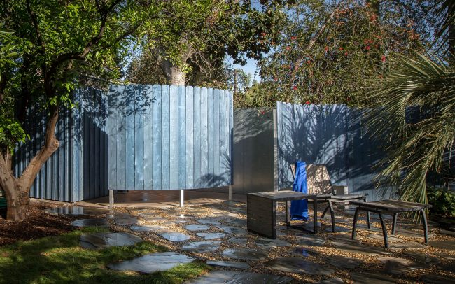 Outdoor shower and changing room