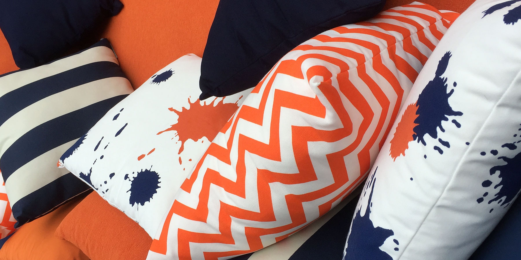 Seating area pillows