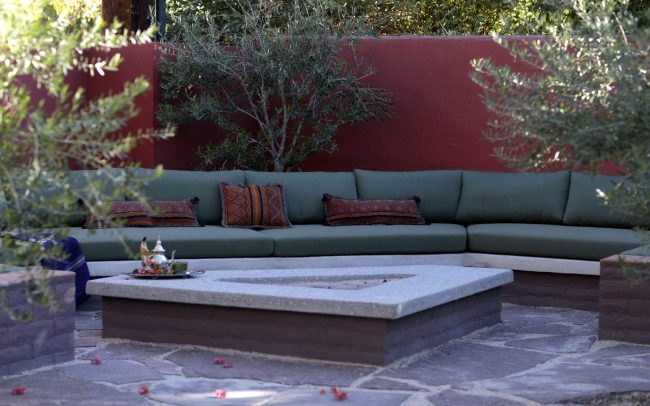 Gathering space with fire pit