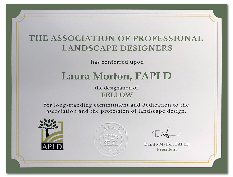 Certificate of designation a Fellow of APLD (FAPLD)