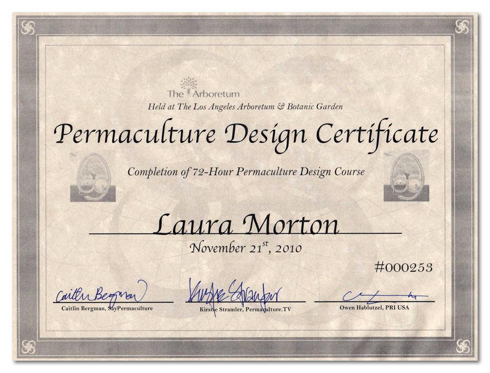 L.A. Arboretum Permaculture Certificate