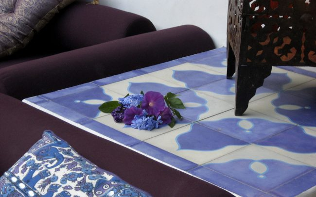 Blue-purple tile