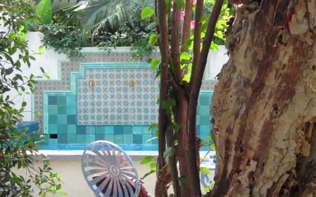 Blue-tiled spa