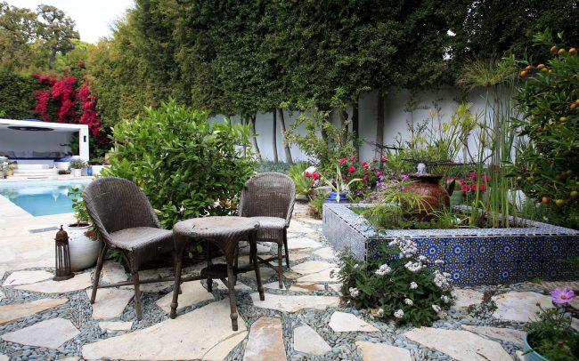 Water garden terrace