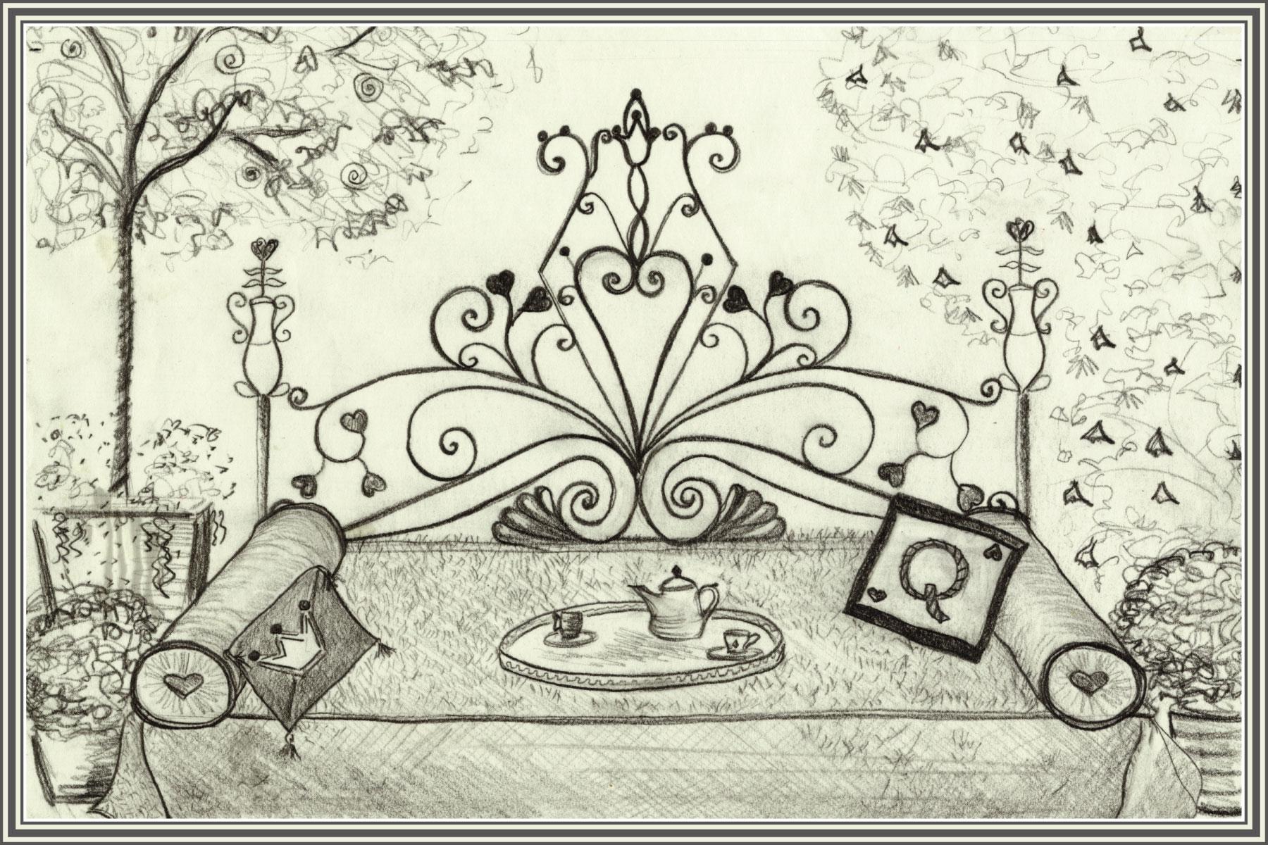 Sketch of Robinson Gardens Queen of Hearts Sleeping Porch