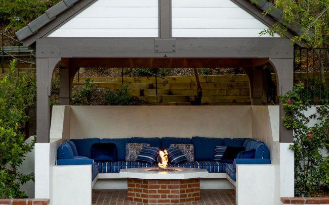 Pavilion with fire pit