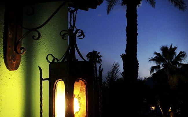 Lamp at dusk