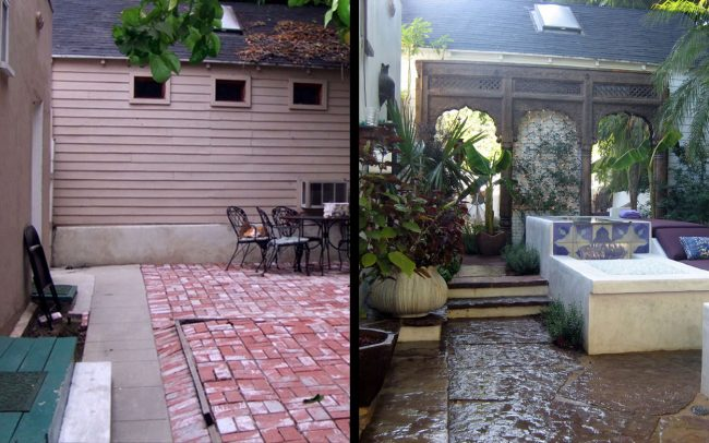 Hollywood Oasis - Before & After