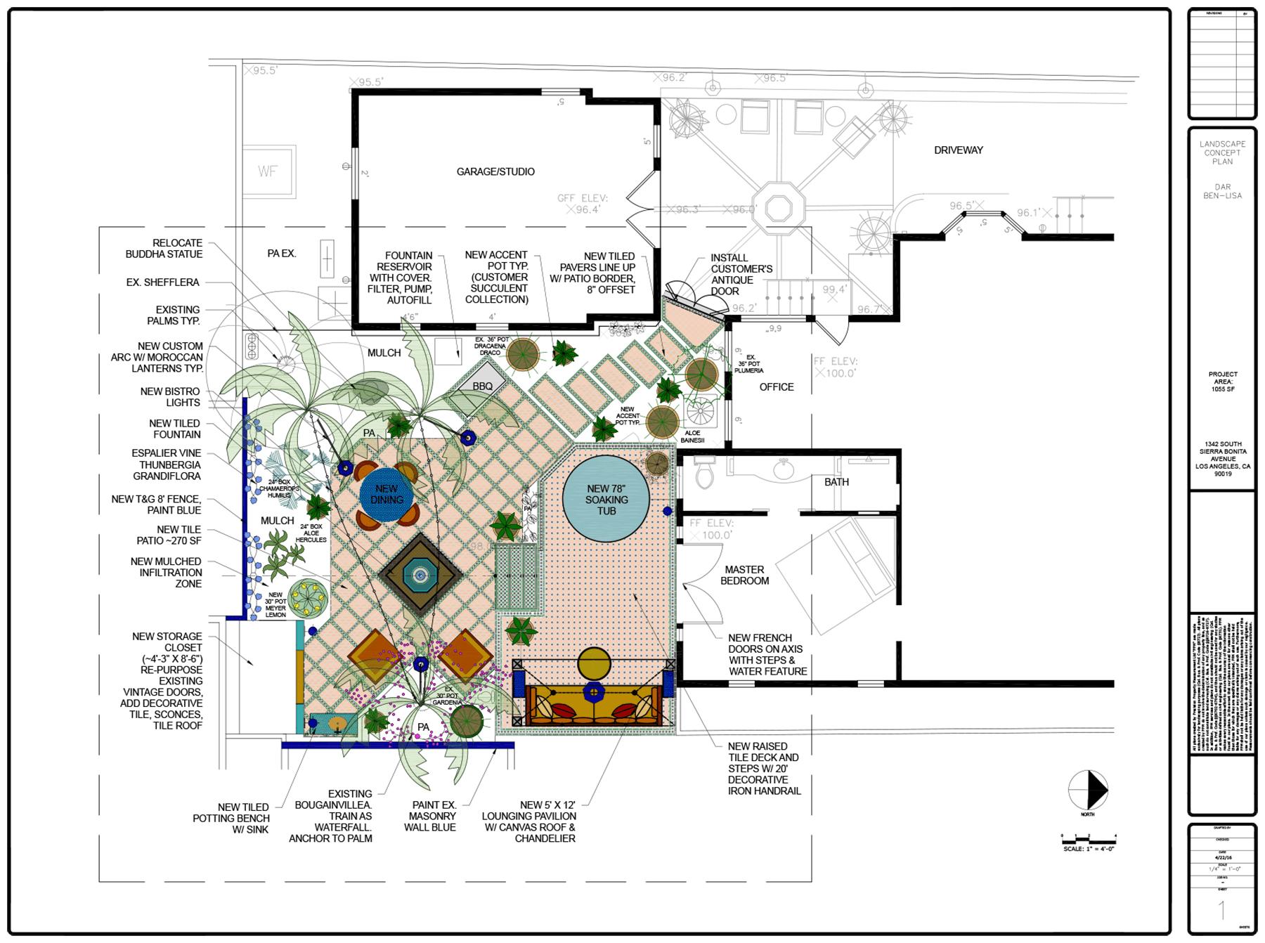 Project design sketch for Dar Ben-Lisa